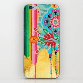 Gold Dipped Boho Serape Dream iPhone Skin