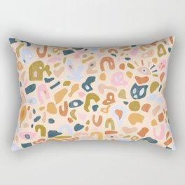 Abstract Paper Cuts Rectangular Pillow