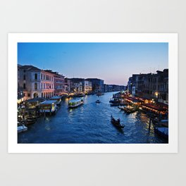 Venice at dusk - Il Gran Canale Art Print