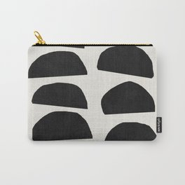 Abstract black shapes art, Mid century modern art Carry-All Pouch