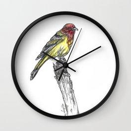 Sir Tanager Wall Clock