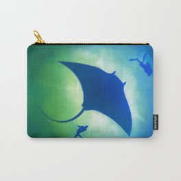 Blue Manta Carry-All Pouch