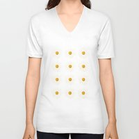 daisy V-neck T-shirts featuring Daisy by nessieness