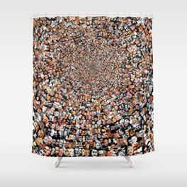"""""""The Work 3000 Famous and Infamous Faces Collage Shower Curtain"""