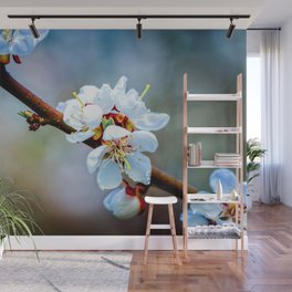 A Branch Of Japanese Apricot In Bloom Wall Mural