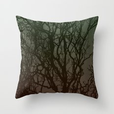 Ombre branches Throw Pillow