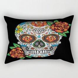 Sugar Skull, Day Of The Dead Rectangular Pillow