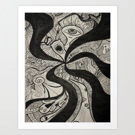 Crank Art Print