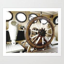 Captains Wheel photography Art Print