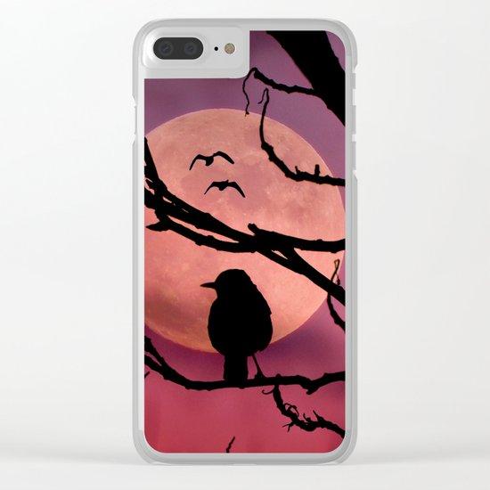 Moonlit dusk Clear iPhone Case