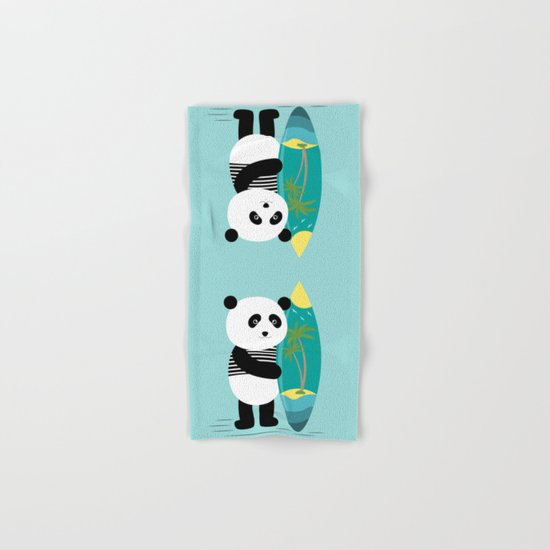 Surf along with the panda. Hand & Bath Towel