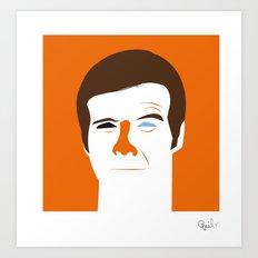 Steve Austin, the six millions dollars man Art Print