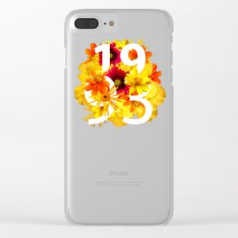 Flower 1993 Clear iPhone Case