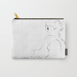graphic sketch of a woman Carry-All Pouch