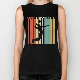 Retro Style Volleyball Player Biker Tank