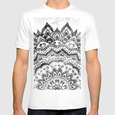 ORION JEWEL MANDALA MEDIUM Mens Fitted Tee White