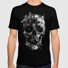 Kingdom Skull B&W Mens Fitted Tee 2X-LARGE Black