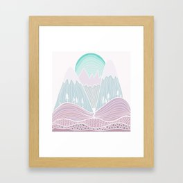 The Mountains are Calling No. 2 Framed Art Print