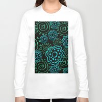 mod Long Sleeve T-shirts featuring mod flowers by Sylvia Cook Photography