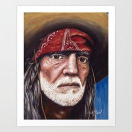On My Mind (Willie Nelson Portrait Portrait) Art Print