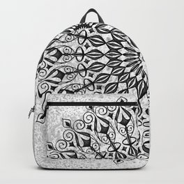 Mandala in grey Backpack
