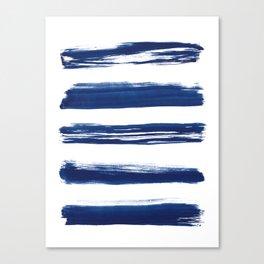 Indigo Brush Strokes | No. 2 Canvas Print