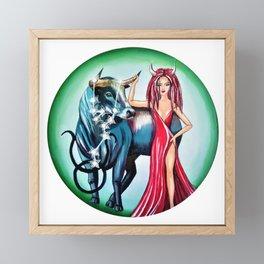 Taurus Zodiac Sign Framed Mini Art Print