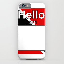 Hello I am from Trinidad and Tobago iPhone Case