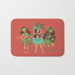 Luau Girls on Coral Bath Mat