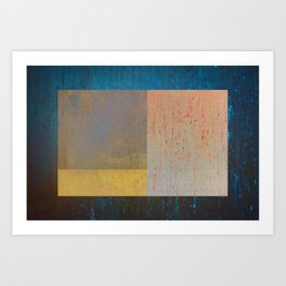 Geometric Texture Abstract II Art Print
