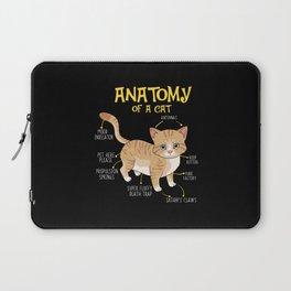 Funny Anatomy Of A Cat Kitten Feline T-shirt Laptop Sleeve