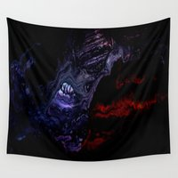 nightmare Wall Tapestries featuring NIGHTMARE by ....