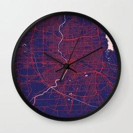 Rochester, NY, USA, Blue, White, City, Map Wall Clock
