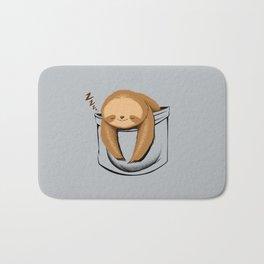 Sloth in a Pocket Bath Mat
