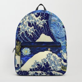 flying tardis in starry night Backpack
