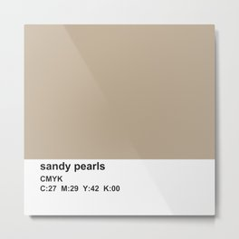 pantone bronze, cmyk, sandy pearls Metal Print