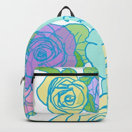 Pop Roses in Bright Preppy Colors Backpack