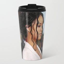 Rihanna - Celebrity - Oil Paint Art Travel Mug