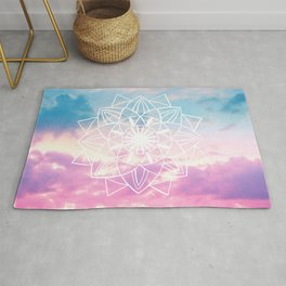 Star Mandala Unicorn Pastel Clouds #3 #decor #art #society6 Rug