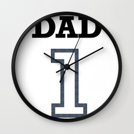 Dad 1 Child Funny Father Day Gift Wall Clock