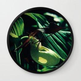 Flower in the Moonlight #3 #Lady's Slipper Wall Clock