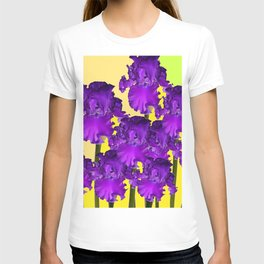 Yellows Contemporary Purple Iris Garden Art T-shirt