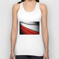 poland Tank Tops featuring flag of Poland by Lulla