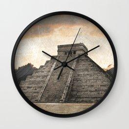 Mayan pyramid - Mexico Wall Clock