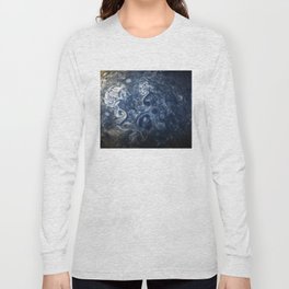 Swirling Blue Clouds of Planet Jupiter from Juno Cam Long Sleeve T-shirt