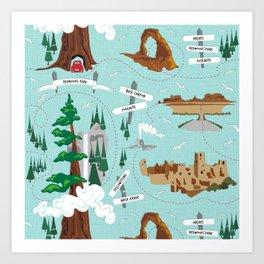National Parks Art Print