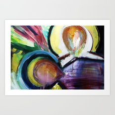 Off the Cross Icon Art Print
