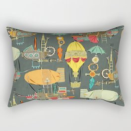 steampunk sky dark Rectangular Pillow