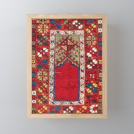 Mujur Central Anatolian Niche Rug Print Framed Mini Art Print