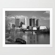 Columbus Ohio 3 - B&W Art Print